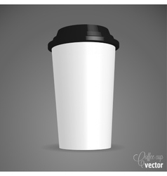 Close up take-out coffee vector image