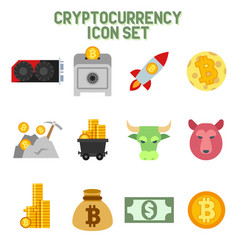 Crypto currency icons vector