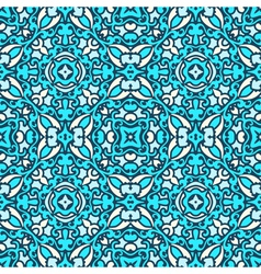 Damask blue pattern vector image