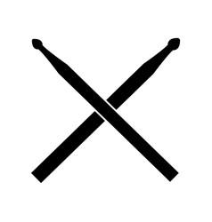 Drum sticks icon in on white background vector