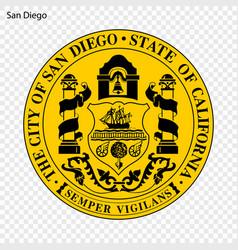 emblem of san diego vector image