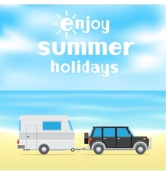 Enjoy summer holidays vector