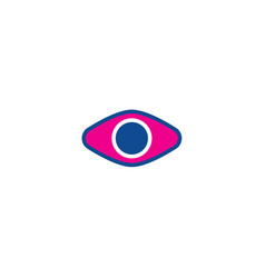 eye color thin line icon for web vector image