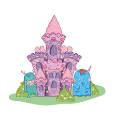 fairytale monsters in the castle vector image