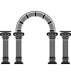 Fantasy arch and columns vector