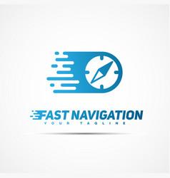 Fast navigation logo vector