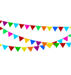 festive garlands colored flags vector image