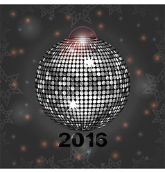 Festive gray glowing background with disco ball vector image