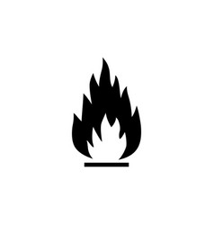 fire flame flammable flat icon vector image