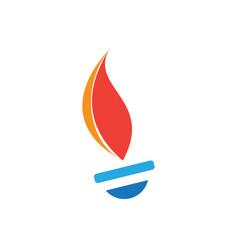 fire tech image vector image