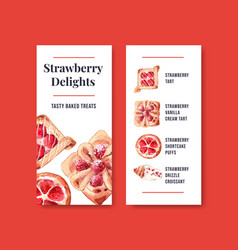 Flyer template with bakery design for brochure vector