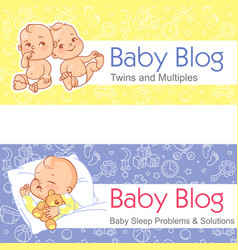 for blog twin babies sleeping baby vector image