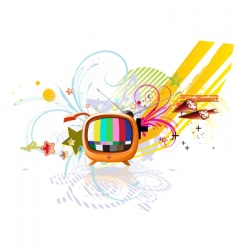 funky abstract background vector image