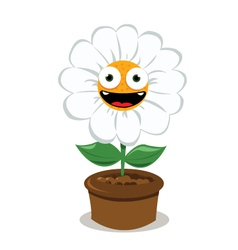 Funny Daisy in a Pot vector image
