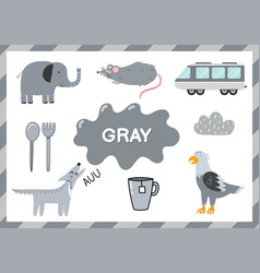 gray educational worksheet for kids learning the vector image