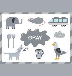 gray educational worksheet for kids learning vector image