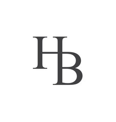 H b letter logo lettermark hb monogram elegant lux vector