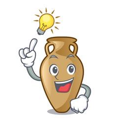 Have an idea amphora mascot cartoon style vector