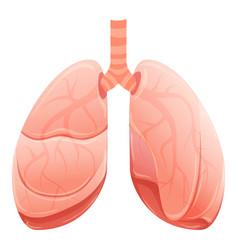 healthy lungs icon cartoon style vector image