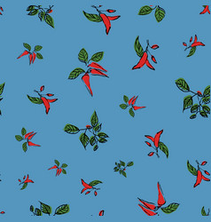 Hot chili pepper seamless repeat pattern vector