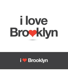 i love brooklyn vector image