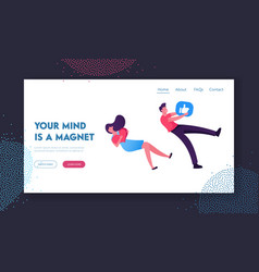influencer smm website landing page man and woman vector image