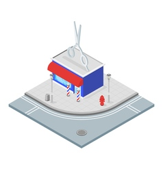 Isometric 3d of barbershop vector image