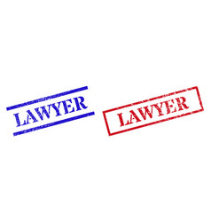 Lawyer textured scratched stamp watermarks vector