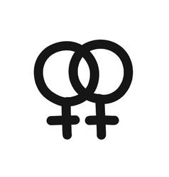 Lesbian symbol doodle icon line vector