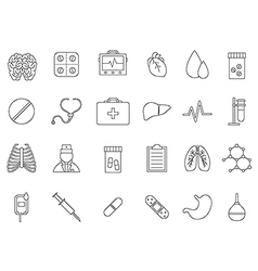 Medicine black icons set vector image