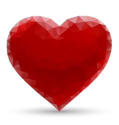 mosaic heart romantic sign love vector image