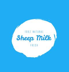 natural fresh seep milk blot label vector image