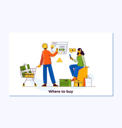 online shopping e commerce and delivery service vector image