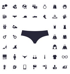 Panties icon vector