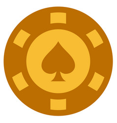 peaks suit gold casino chip vector image