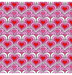 Pink chain of hearts seamless pattern vector