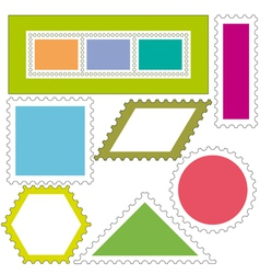 Postage stamps icons vector