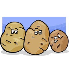 Potatoes vegetable cartoon vector