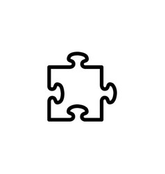 puzzle line icon in flat style for apps ui vector image
