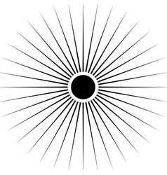 radiating circular lines abstract monochrome vector image