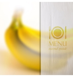 Restaurant menu design on realistic blurred vector