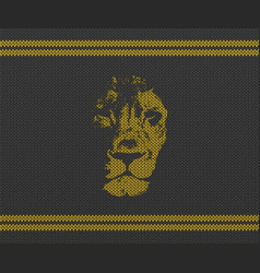 Retro background with lion head vector