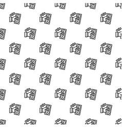 Reverse bribery pattern seamless vector