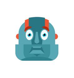 Robot scared omg avatar cyborg oh my god emoji vector