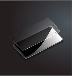 screen protector glass of vector image