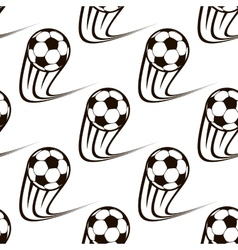 Seamless pattern of zooming soccer balls vector image