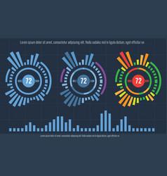 Set of intelligent technology hud interface vector