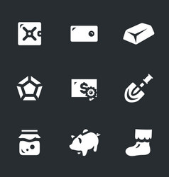 Set of saving money icons vector
