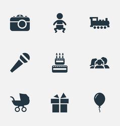 Set of simple celebration vector