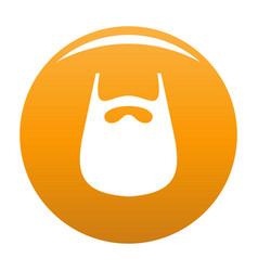 Smooth beard icon orange vector